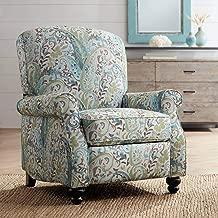 Ethel Skye Blue Paisley Push Back Recliner Chair - Elm Lane