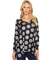 Nally & Millie - Grey Polka Dot Jacquard Print Tunic