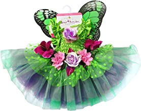 Great Pretenders Fairy Blooms Deluxe Dress with Wings, Green, Medium
