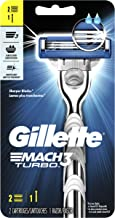 Gillette Mach3 Turbo Men's Razor Handle + 2 Refills
