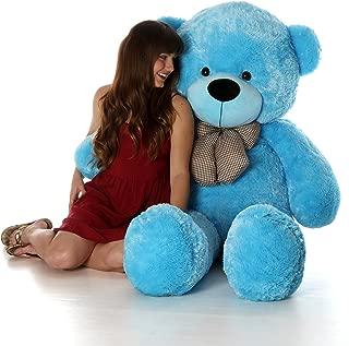 Giant Teddy 5 Foot Life Size Teddy Bear Huge Stuffed Animal Toy Huggable Cute Cuddles Bear (Sky Blue)