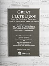 Great Flute Duos From the Orchestral Repertoire (Excerpts for Principal, Second, and Alto Flute Auditions). By Igor Fyodorovich Stravinsky Richard Strauss. Edited By Posnock, Dorff, Jeanne Baxtresser. For Flute I, Flute Ii, Alto Flute. Set of Parts.