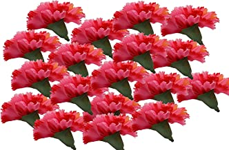 Fourwalls Artificial Decorations Loose Carnation Flower Heads (Pack of 144 Pcs, Dark/Pink)