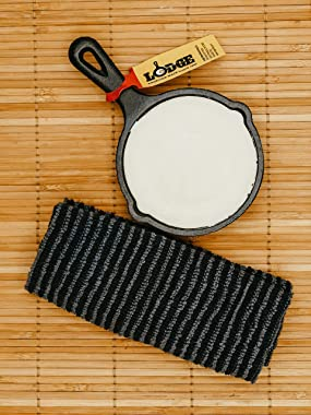 """Mini Skillet Care Kit - Lodge 3.5"""" Cast Iron Skillet with Crisbee and Cotton Applicator - For All Your Cast Iron and Carb"""