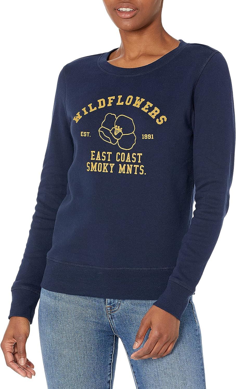 Amazon Essentials Women's Classic Fit Long Sleeve Graphic Crewneck Sweatshirt