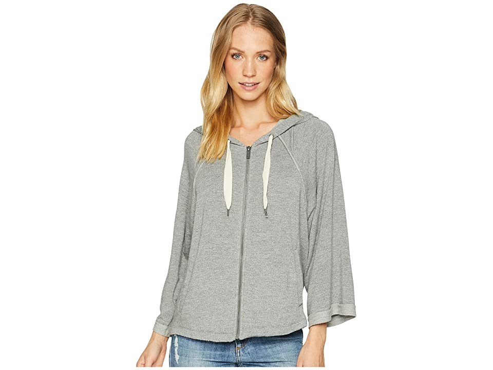 Splendid Raglan Zip Hoodie (Heather Grey) Women