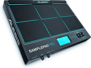 Alesis SamplePad Pro | 8-Pad Percussion and Sample-Triggering Instrument with Dual Zone Rubber Pads, Blue LED Illumination, and Built-in Sounds (Black)