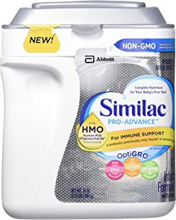 Similac Pro-Advance Non-GMO Powder, Infant Formula with Iron with 2'-FL HMO for Immune Support, (34 Ounces)