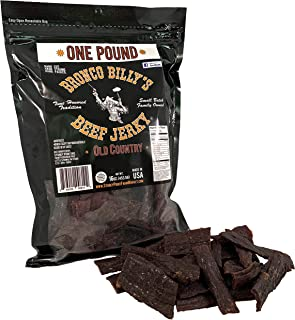 Bronco Billy's Beef Jerky Old Country One Pound Resealable Bag