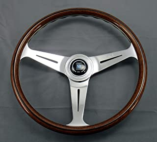 Nardi Steering Wheel - Classic - 390 mm (15.35 inches) - Wood with Polished Spokes - Part # 5061.39.3000