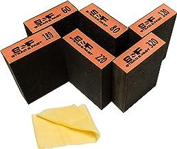 S&F STEAD & FAST Sanding Sponge - Wet Dry Sanding, 60 80 120 180 220 320 Sanding Block Coarse Medium Fine Grit, Fine Sandp...