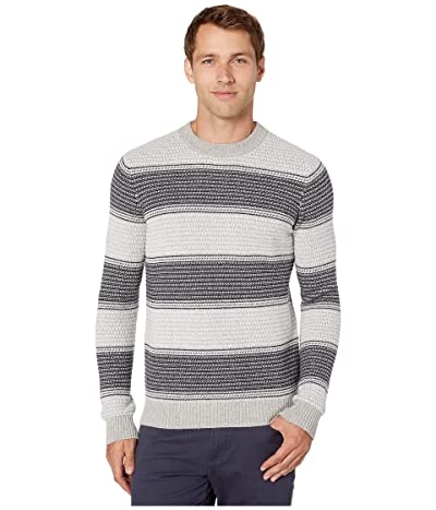 Michael Kors Rack Stripe Crew Sweater (Heather Grey) Men