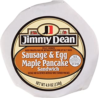Jimmy Dean, Sausage and Egg Maple Pancake Sandwich, 4.9 oz, (Pack of 12)