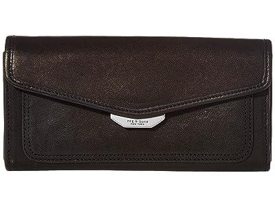 rag & bone Field Continental Wallet (Black 1) Wallet Handbags