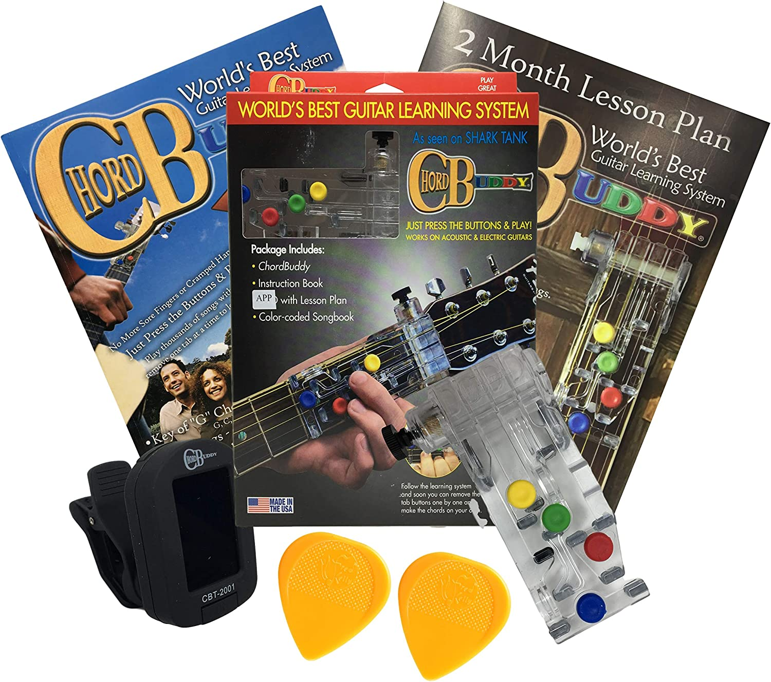 Fixed price for sale ChordBuddy Guitar Learning System Chromatic Tuner Clip-On OFFicial site Blac