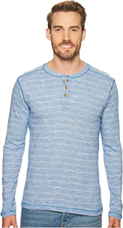 Long Sleeve Slub Knit Henley
