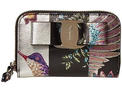 Salvatore Ferragamo Vara Rw Zip Wallet Metal Print (Multi Print) Wallet Handbags