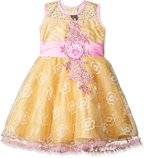 Smiling Bows Girls Synthetic A-Line Dress