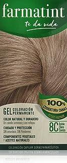 Farmatint Gel 8C Rubio Claro Ceniza | Color natural y duradero | Componentes vegetales y aceites naturales | Sin amoníaco | Sin parabenos | Dermatológicamente testado