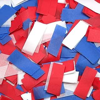 Ultimate Confetti Red/White/Blue Tissue Confetti-Biodegradable-Bright Colors-Premium Confetti-Use with Confetti Poppers-Cannons-Parties-Sporting Events