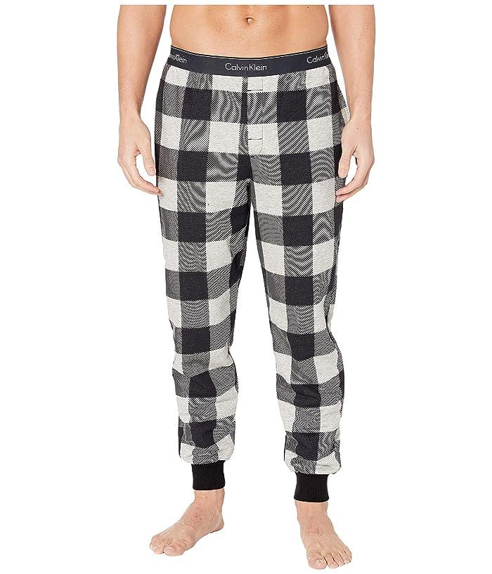 Calvin Klein Underwear  Modern Cotton Buffalo Check Jogger (Graphic Buffalo Check/Grey Heather) Mens Casual Pants