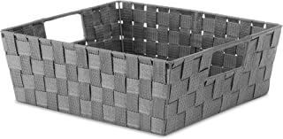 Whitmor Woven Strap Shelf Tote Savvy Gray