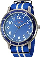 U.S. Polo Assn. Men's Quartz Stainless Steel and Nylon Watch, Color:Blue (Model: US7008)