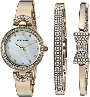 Women's Swarovski Crystal Accented Watch and Bangle Set, AK/3466