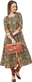 AnjuShree Choice Women Stitched Multi Colour Printed Cotton Kurti