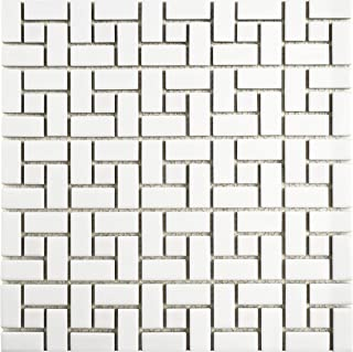 SomerTile FKOMSP21 Retro Spiral Porcelain Mosaic Floor and Wall Tile, 12.5