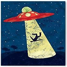Ambesonne Cartoon Bandana, Alien Abduction Space, Unisex Head and Neck Tie