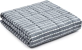 YnM Weighted Blanket (20 lbs, 60''x80'', Queen Size) | 3.0 Heavy Blanket | 100% Cotton Material with Glass Beads