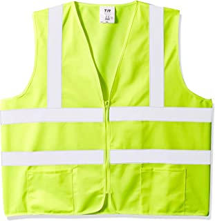 TR Industrial TR88003-5PK OSHA Class 2 Zipper Knitted Safety Vest (5 Pack), XX-Large, Neon Yellow