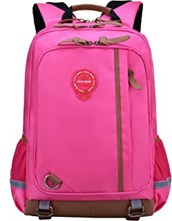 Elementary School Backpack For Boys|Girls|Kids Middle|High School Bags Bookbag (Pink Elementary School Backpack, Large for Grade 4-6)