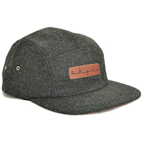 Skyed Apparel Premium 5 Panel Hat with Genuine Leather Strap (Multiple  Colors) a84951219fe