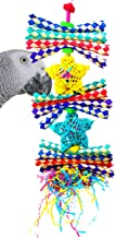 Bonka Bird Toys Duo Foraging Heart Star Shred Toy Parrot cage Cockatiel African Grey Conure