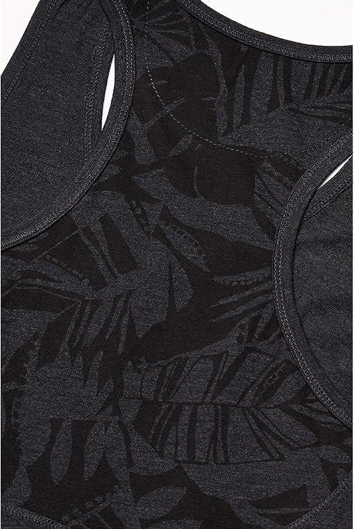 Meteorite Black Heather/Meteorite Tonal Leaf All Over Print