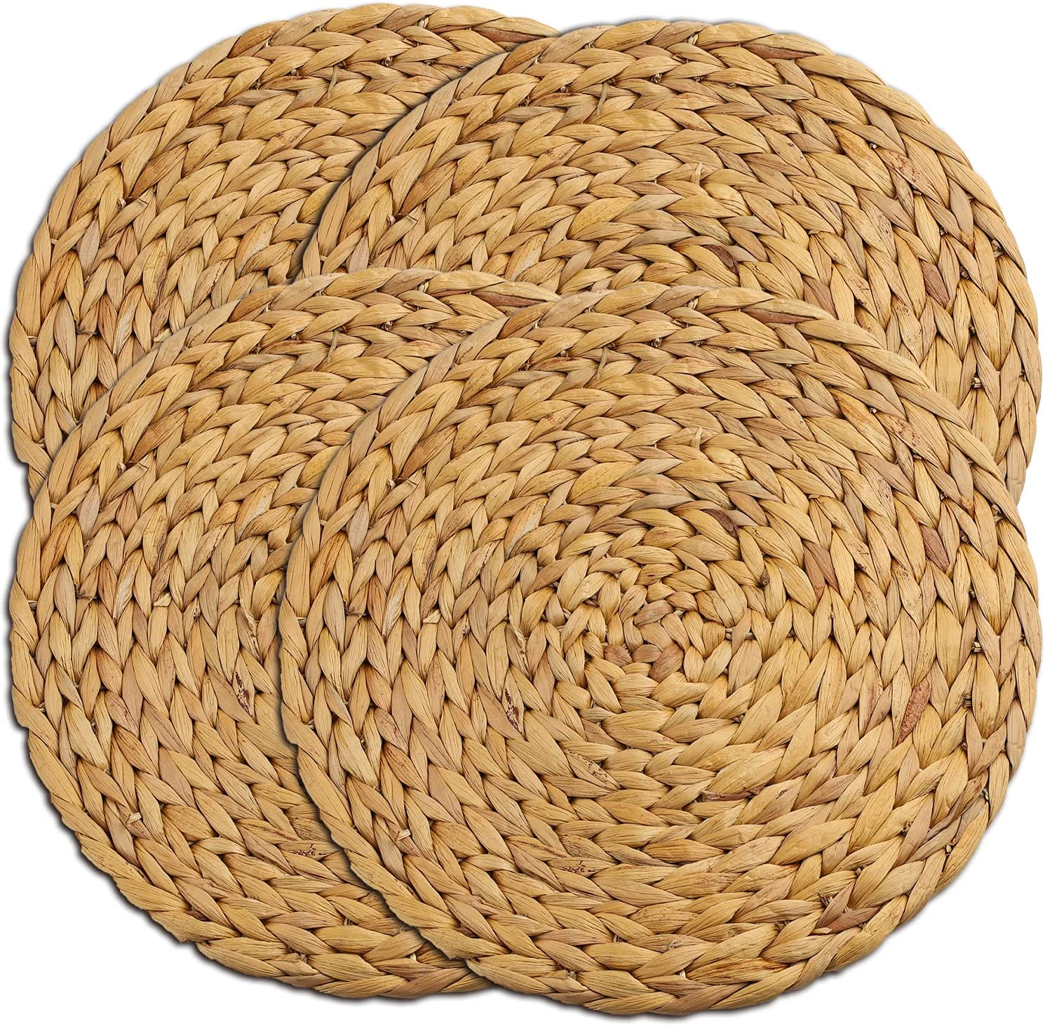 Woven Placemats Ranking TOP1 Large Round Dining [Alternative dealer] Natural for Wicker