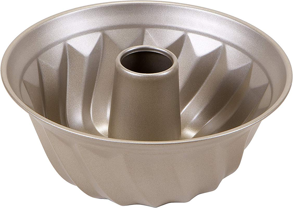 Art And Cook Non Stick Carbon Steel Bundt Form Pan 9 5 Champagne