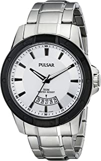 Pulsar Mens Analogue Stainless Watch - Silver Bracelet - White Dial - PS9275