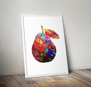 Birne inspiriert Aquarell Poster Print Geschenke - Alternative TV/Movie Poster in verschiedenen Größen (Frame nicht enthalten)