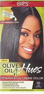 ORS Olive Oil Hues Vitamin and Oil Creme Color, Jet Black