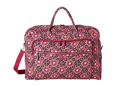 Vera Bradley Iconic Grand Weekender Travel Bag (Raspberry Medallion) Weekender/Overnight Luggage