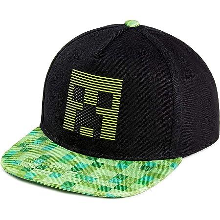 Minecraft Gorra Niño | Gorra Niño con El Logo, Rejilla Negra Y Pixelado Verde | Gorra Protección Solar para Niños | Gorra Mine Craft Niño