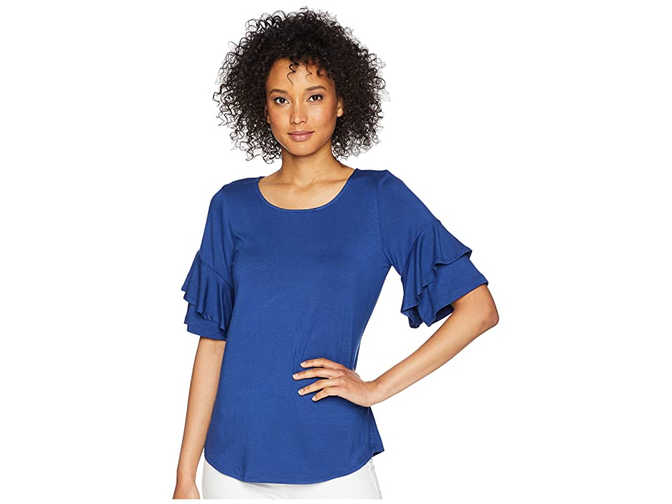 Karen Kane Ruffle Sleeve Top (Iris) Women