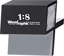 Woodraphic All New Dovetail Hand Magnetic Saw Guide Jig Marker Marking Gauge Cut Wood Joints - Aluminium/Uhmwpe/Magnet/Slicone Skin/Upgraded Version - (1:8 for Hard Wood)
