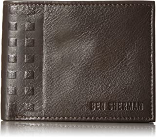 Ben Sherman Men's Holland Park Full Grain Cowhide Leather Passcase Wallet with RFID Blocking