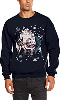 DC Comics Men's Christmas Batman and Robin Long Sleeve Sweatshirt