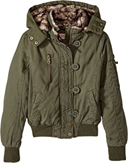Urban Republic Kids - Cotton Twill Bomber with Faux Fur Lining (Little Kids/Big Kids)