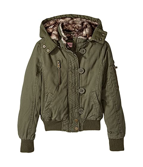 97941f507381 Urban Republic Kids Cotton Twill Bomber with Faux Fur Lining (Little ...